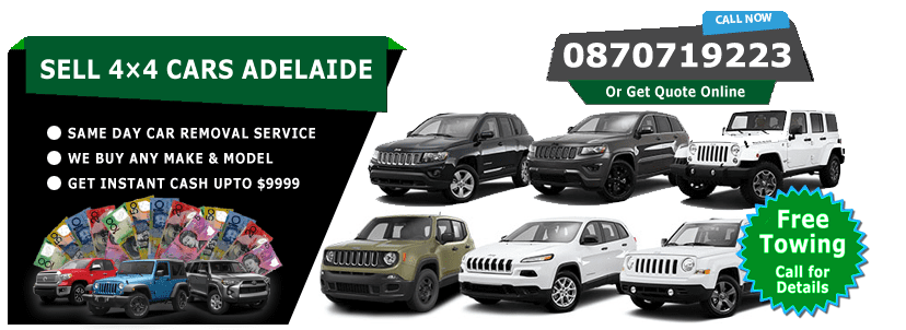 Sell My 4x4 Cars Adelaide